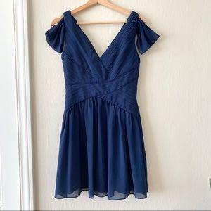 Navy Blue Chiffon Dress 💙
